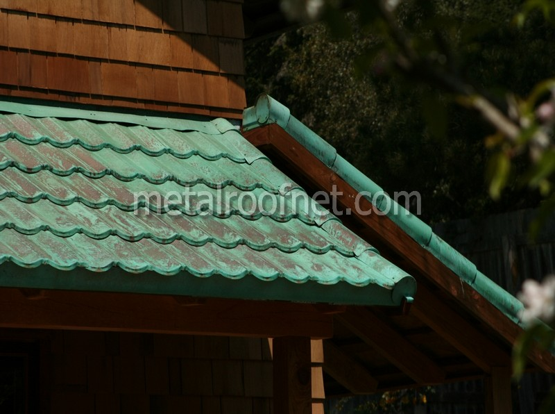 Natural And Pre Aged Copper Roofing