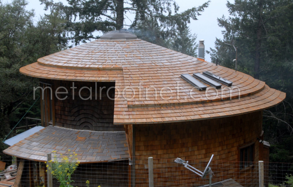 a rustic natural metal roof made to order