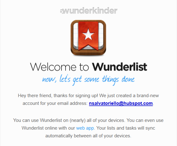 Wunderlist Post Sign Up Welcome Email Example Pt. 1 resized 600