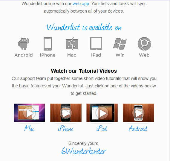 Wunderlist Post Sign Up Welcome Email Example Pt. 2 resized 600
