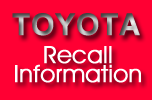 Information listing all Toyota vehicle models involved in recall and all the latest Toyota USA automotive FAQ's