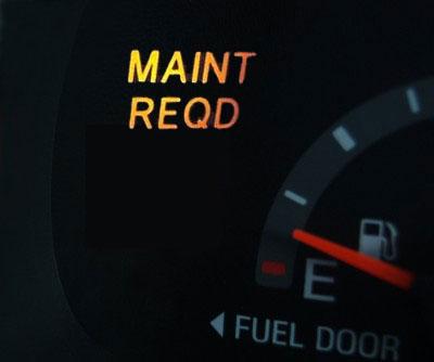 Toyota Maintenance Required Light