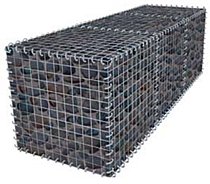 gabion drawing filled with rocks