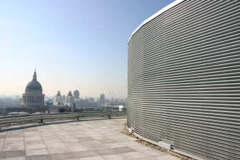 Weather louvre installed on One London Wall