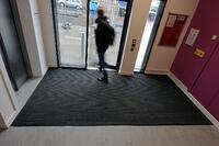 student accommodation entrance matting