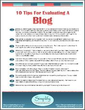 10 tips evaluate blog