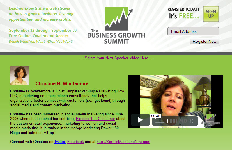 Business Growth Summit: Whittemore 2011 'Get Found Online'