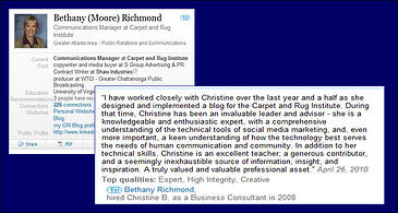Bethany Richmond Recommendation