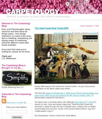 Carpet style trends, news and more