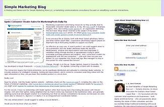 Simple Marketing Blog: content marketing & social media