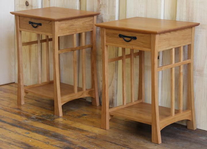 Custom Handmade Furniture Bedroom Furniture Side Tables Maine