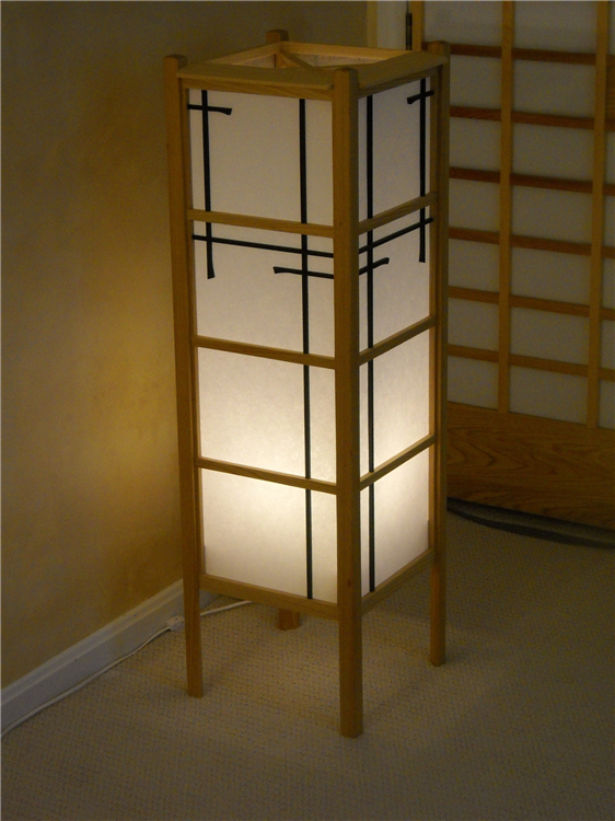 shoji style floor lamp on dim range asian inspired lighting