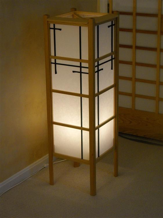 ... Shoji Style Floor Lamp, On Dim Range