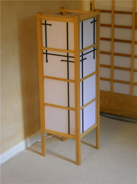 shoji style floor lamp|asian inspired arts and crafts lighting