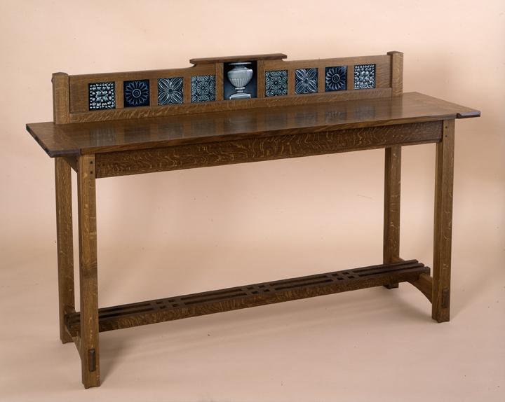 custom arts and crafts furniture handmade New England sideboard tiles