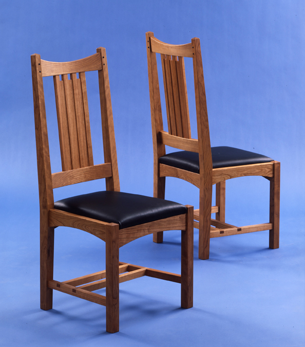 Custom made dining chair high end furniture makers for Arts and crafts furniture makers