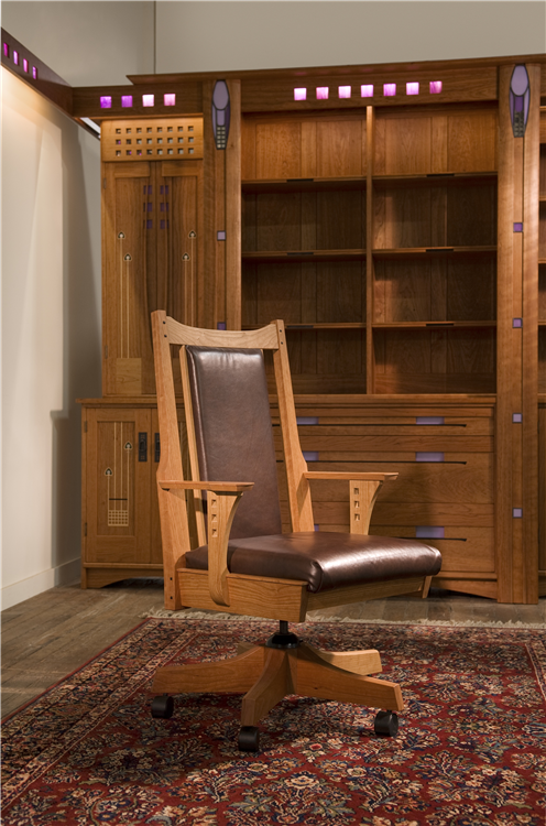 Charles Rennie Mackintosh Inspired Contemporary Desk Chair