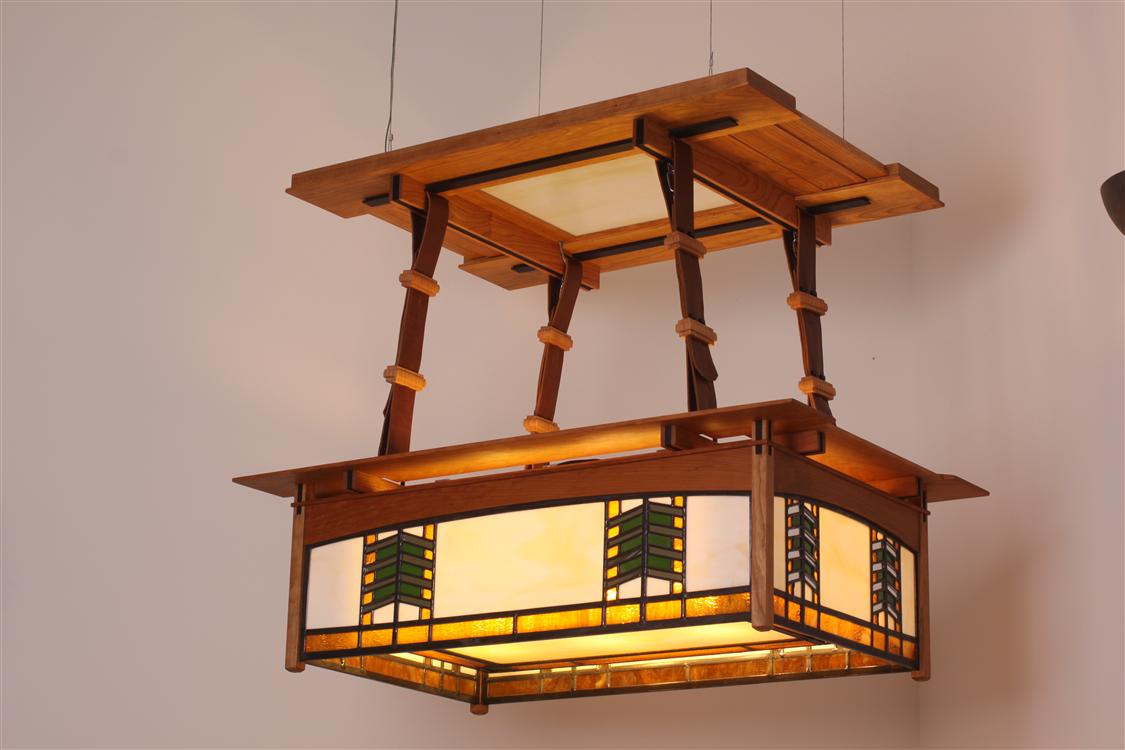 Frank Lloyd Wright Style Ceiling Light.