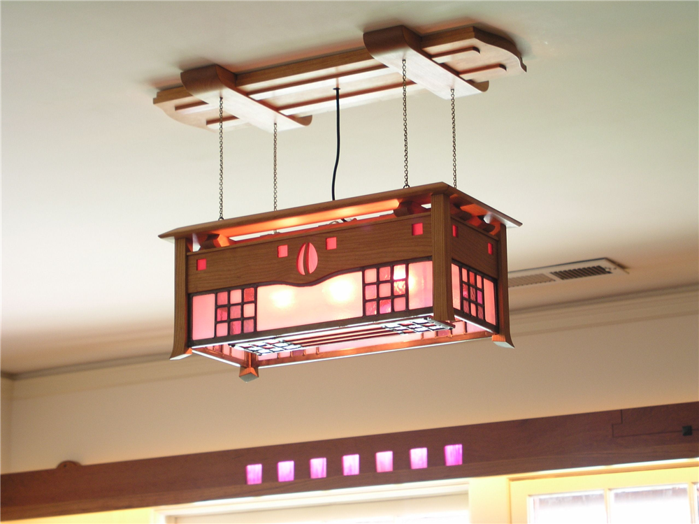 Mackintosh ceiling lightstained glassarts and crafts lightingled ceiling light fixture led bulbs cherry art glass mozeypictures Images