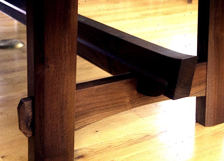 Captivating Custom Dining Table. Claro Walnut.