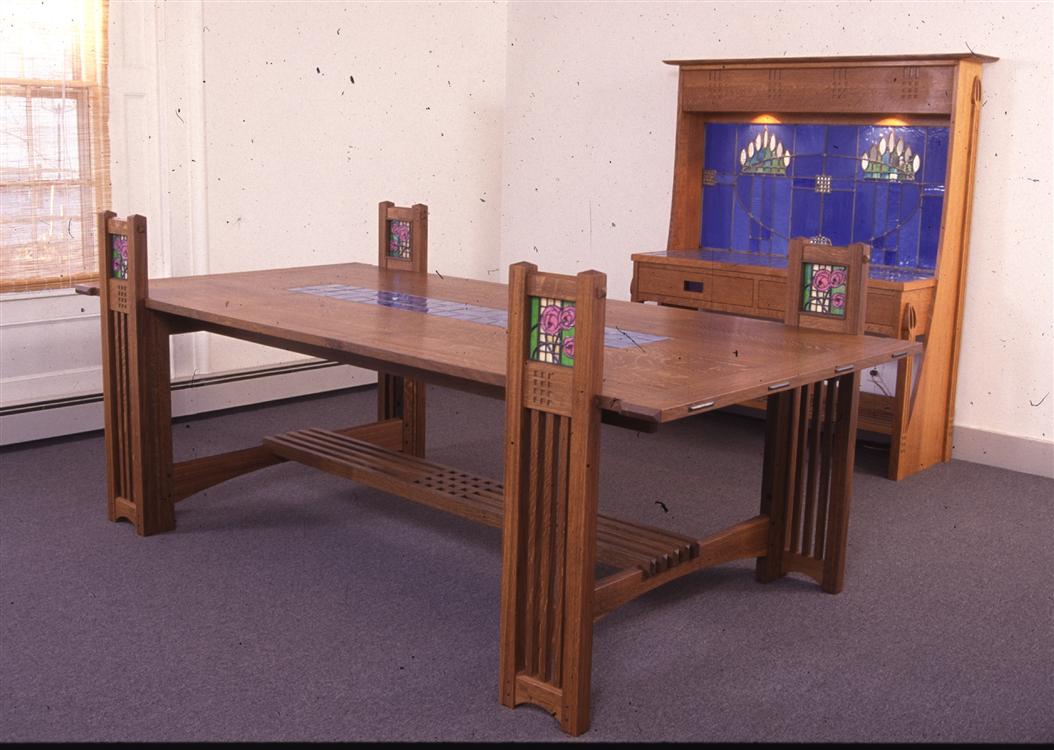Custom Made Dining Room Furniture Custom Made Dining Table Flwright Mackintosh Fine Furniture