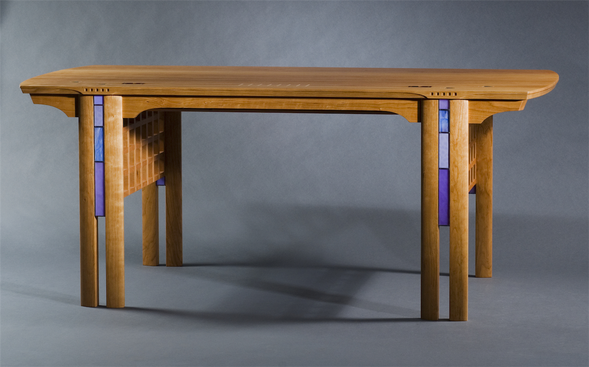 Charles Rennie Mackintosh And Glasgow Style Inspired High End Custom Made  Office Desk.