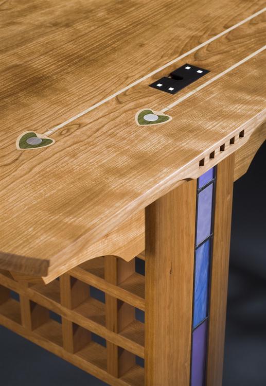charles rennie mackintosh inspired custom furniture for high end office by kevin rodel furniture - Custom Desk Design