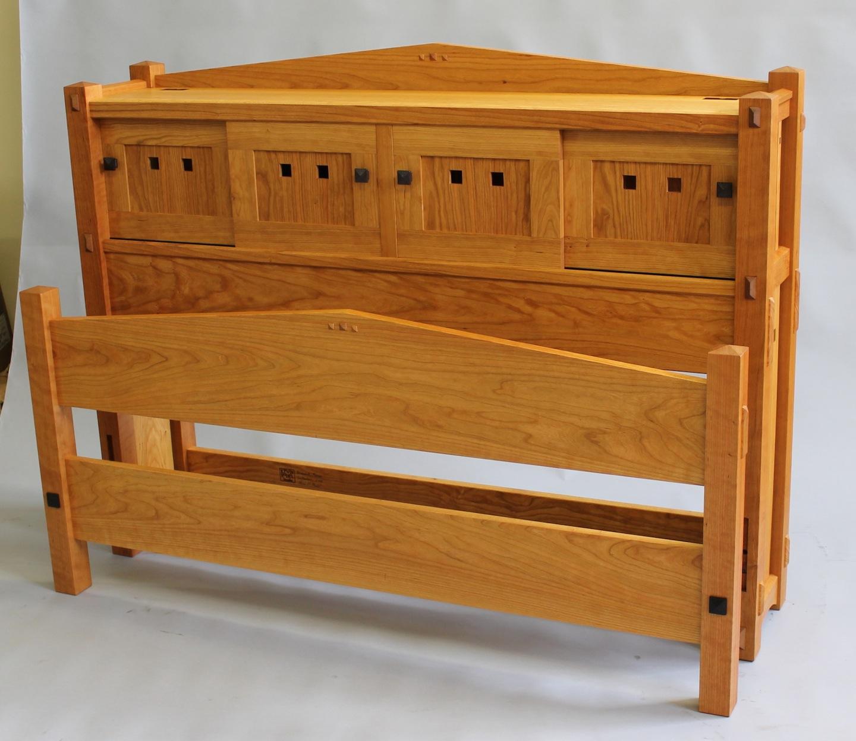 Custom made bed. custom bedroom furniture Maine furniture makers luxury furniture