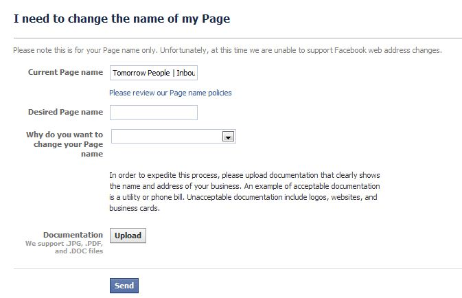 how to change your business page name on facebook