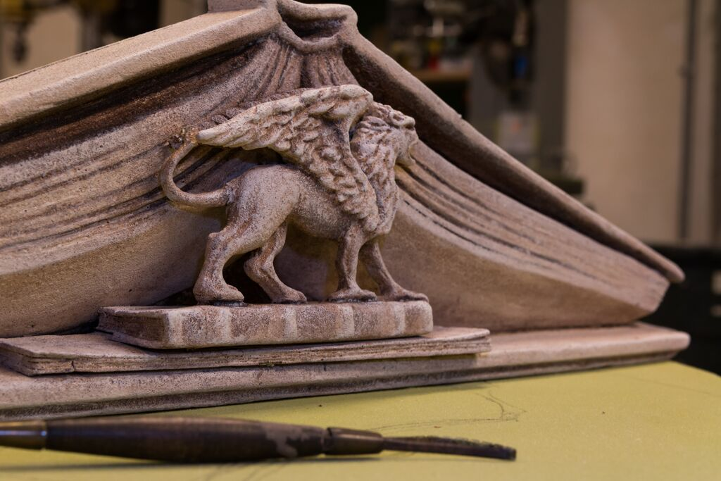 made-in-california-manufacturer-malama-Pediment-sculpted-by-SDNHM
