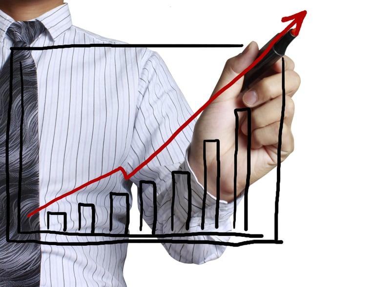 10190907_xl guy drawing chart increase sales-2