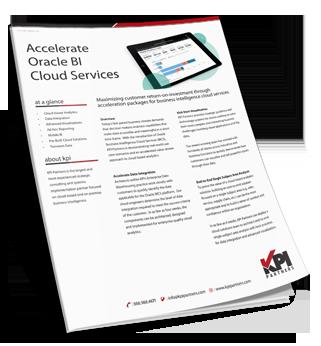 KPI Forms Oracle BI Cloud Services (BICS) Task Force