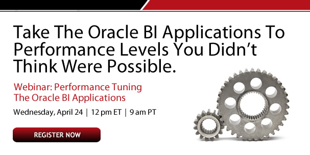 Take the Oracle BI Applications to performance levels you didn't think were possible.