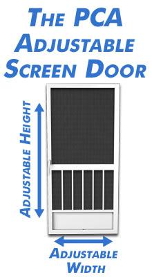 Enjoy Installing An Adjustable Aluminum Screen Door