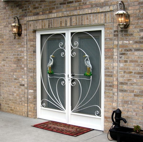 Wholesale screen doors aluminum screen doors custom for Double door screen door