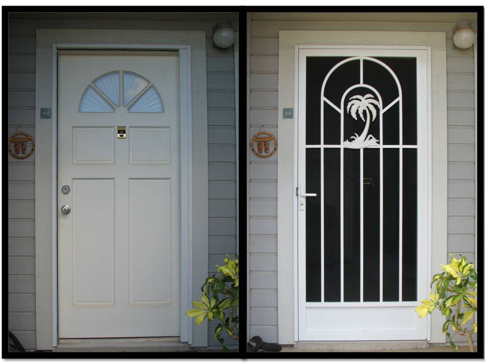 Wholesale screen doors aluminum screen doors custom screen door company - White security screen door ...