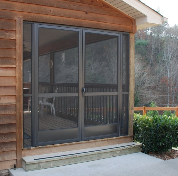 Custom screen door company with wholesale screen doors for for Plastic french doors