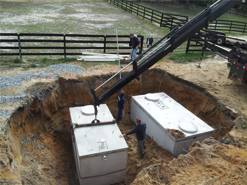 Alignment of the tanks is critical for the mechanics of the septic system. The wrong elevation can make or break your Septic Installation. All our work is triple checked by a transit laser to make sure all our elevations are correct.