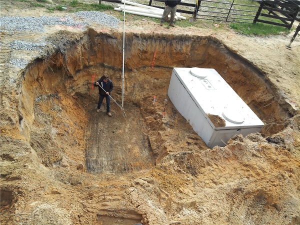 Septic Tank Installation-A two compartment 1500 gallon Septic Tank was installed along with a 6