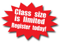 class size is limited -  register today
