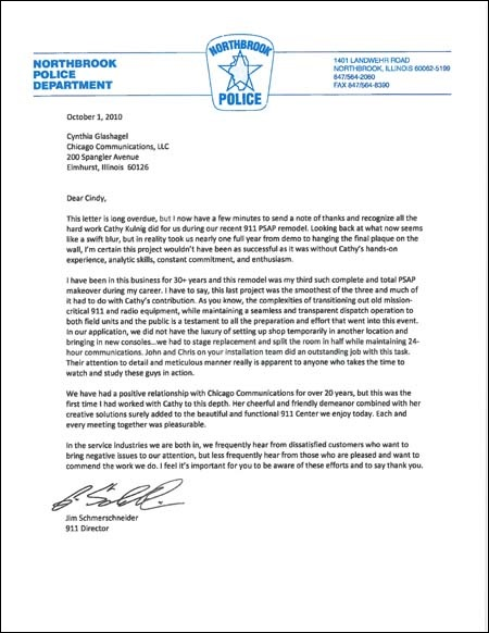 Northbrook PD Testimonial