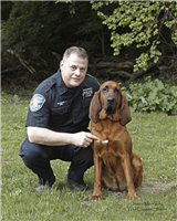 Seneca brought her handler, Officer Matt Notaro, who share amazing stories and facts about Seneca and her nose.