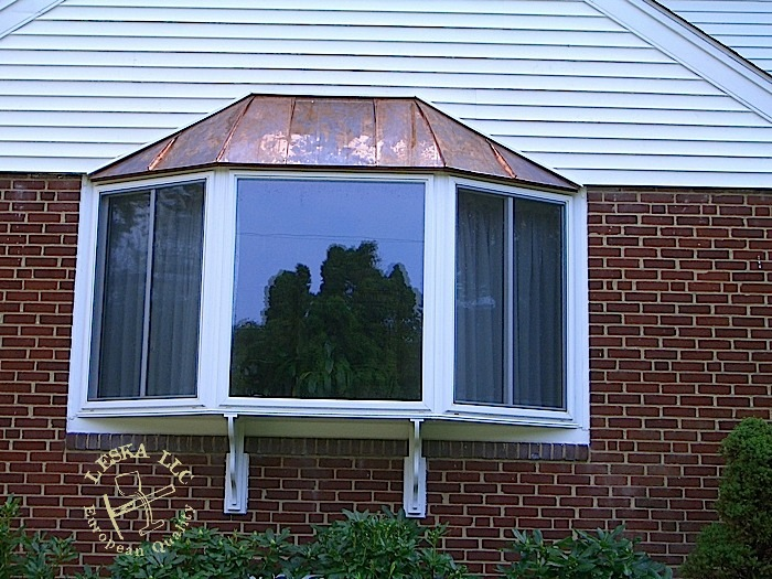 Two Copper Bay Windows In Potomac Md
