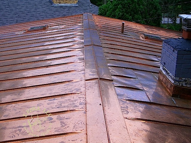 Virginia standing seam metal roof for Standing seam copper