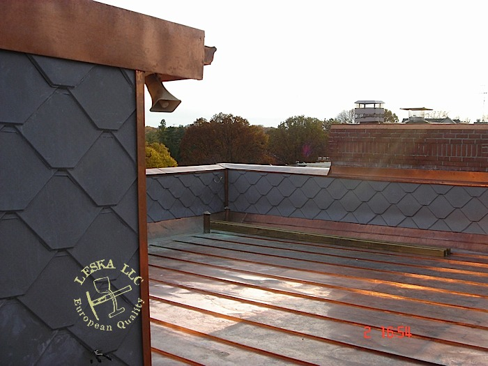 Standing seam flat copper roof dc for Standing seam copper