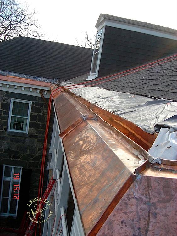 Maryland Ellicott City Roofing Slate Roof Custom Copper