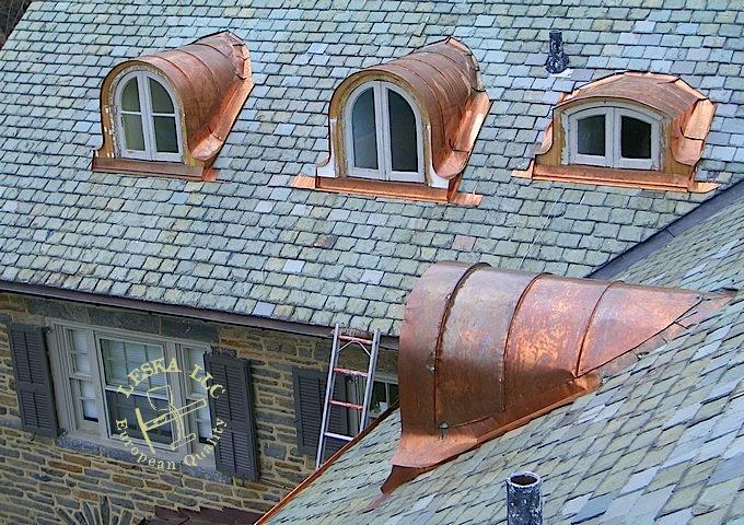 Maryland Potomac Slate Roof Repair Custom Roof Flashing
