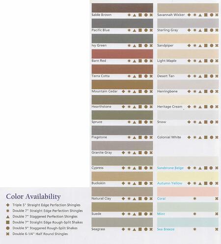 Cedar Impressions Colors Certainteed Vinyl Siding
