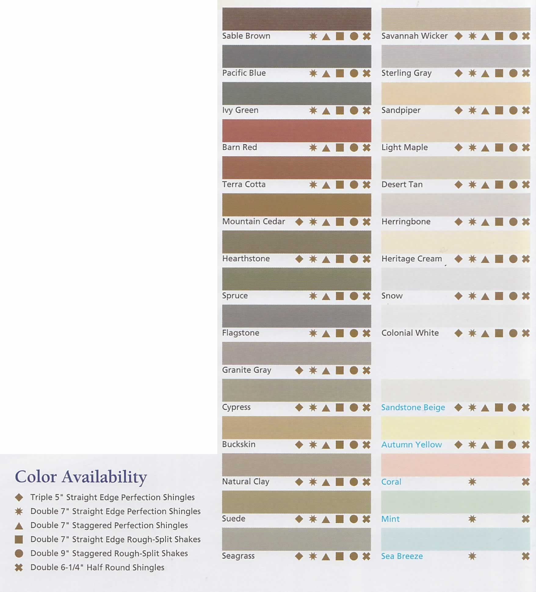 Cedar Impressions Colors | CertainTeed Vinyl Siding - Berkeley Exteriors - CT