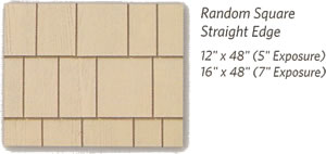 Weatherboards Shapes Random Square Straight Edge Shingles - Berkeley Exteriors - CT